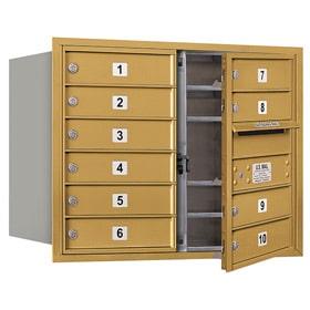 Salsbury 4C Mailboxes 3706D-10 Gold