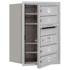 Salsbury 4C Mailboxes 3706S-04 Aluminum