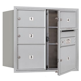 Salsbury 4C Mailboxes 3707D-05 Aluminum