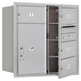 Salsbury 4C Mailboxes 3708D-04 Aluminum