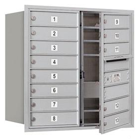 Salsbury 4C Mailboxes 3708D-13 Aluminum
