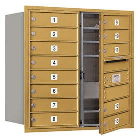 Salsbury 4C Mailboxes 3708D-13 Gold
