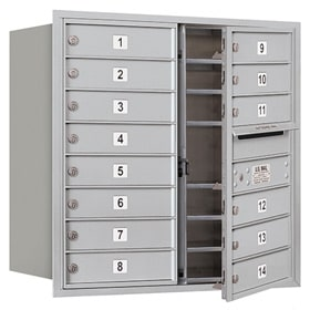 Salsbury 4C Mailboxes 3708D-14 Aluminum