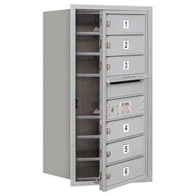 Salsbury 4C Mailboxes 3708S-06 Aluminum