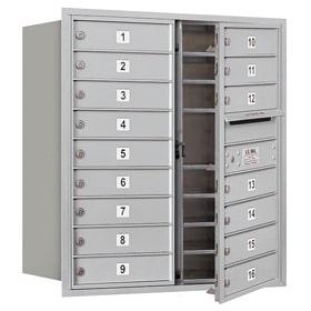 Salsbury 4C Mailboxes 3709D-16 Aluminum