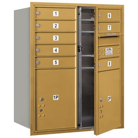Salsbury 4C Mailboxes 3710D-08 Gold