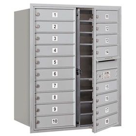Salsbury 4C Mailboxes 3710D-18 Aluminum