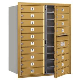 Salsbury 4C Mailboxes 3710D-18 Gold