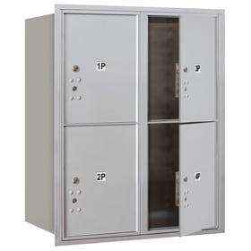 Salsbury 4C Mailboxes 3710D-4P Aluminum