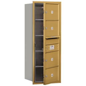 Salsbury 4C Mailboxes 3710S-04 Gold