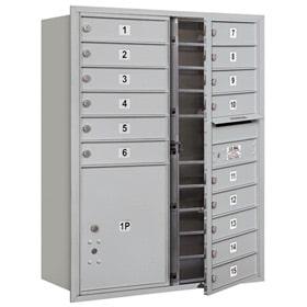 Salsbury 4C Mailboxes 3711D-15 Aluminum