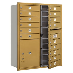 Salsbury 4C Mailboxes 3711D-15 Gold