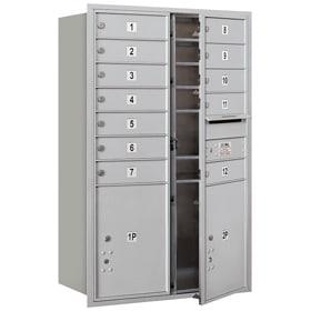 Salsbury 4C Mailboxes 3712D-12 Aluminum