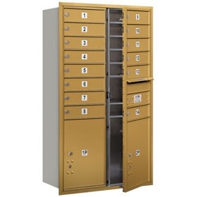 Salsbury 4C Mailboxes 3713D-14 Gold
