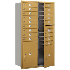 Salsbury 4C Mailboxes 3715D-17 Gold