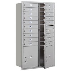 Salsbury 4C Mailboxes 3715D-18 Aluminum