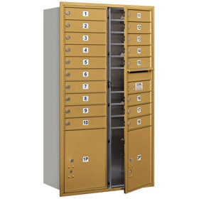 Salsbury 4C Mailboxes 3715D-18 Gold