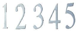 Berkshire Mailbox Stainless Steel Numbers