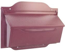 Special Lite Contemporary Horizontal Mailbox Burgundy