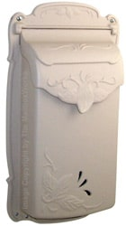 Special Lite Floral Vertical Mailbox Champagne