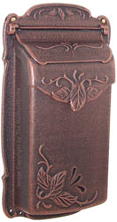 Special Lite Floral Vertical Mailbox Copper