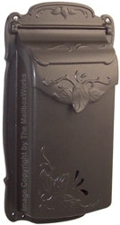 Special Lite Floral Vertical Mailbox Mocha