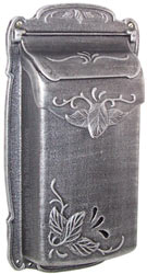 Special Lite Floral Vertical Mailbox Silver