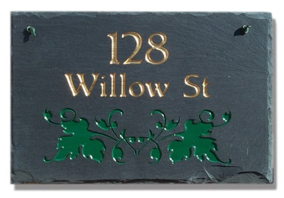 Stone Mill Ivy Rectangle Address Plaque