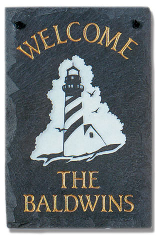 Stone Mill Lighthouse Rectangle Welcome Plaque
