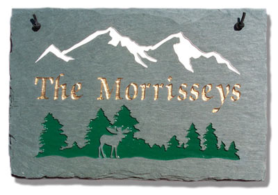 Stone Mill Mountains Rectangle Address Plaque