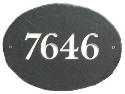 Stone Mill Oval Slate Address Plaque
