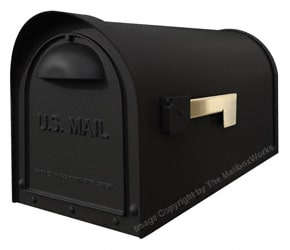 Classic Post Mount Mailboxes Black