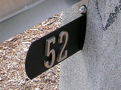 Spira Post Mount Mailbox Address Plaque