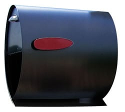 Helix Spira Post Mount Mailbox Black