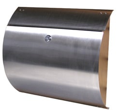Spira Wall Mount Mailbox Stainless Steel