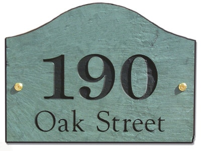 Stone Mill Loaf Address Plaque