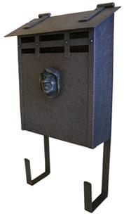 Waterglass Vertical Mailbox Hammered Copper Monk