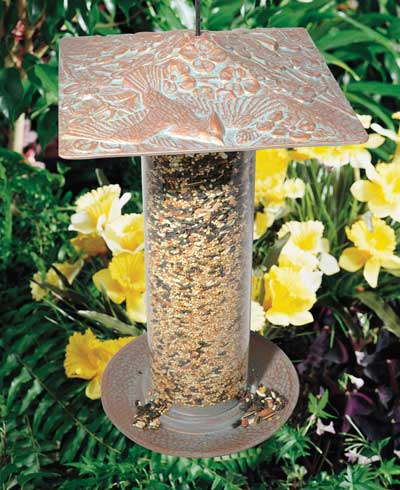Whitehall Cardinal Tube Bird Feeder