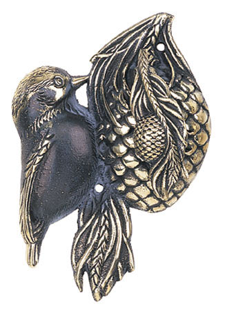 Whitehall Chickadee Solid Brass Door Knocker