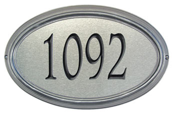 Whitehall Concord Artisan Metal Address Plaque