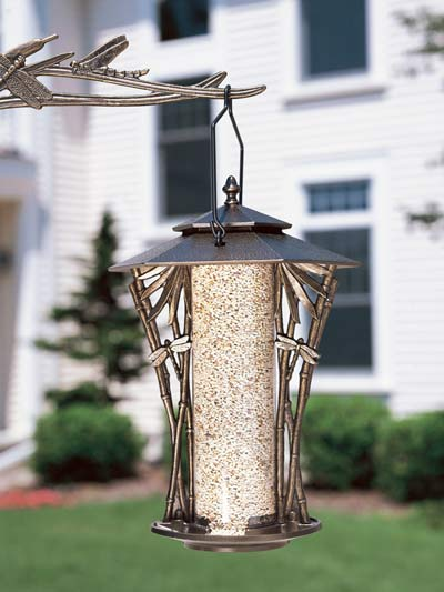 Whitehall Dragonfly Silhouette Bird Feeder