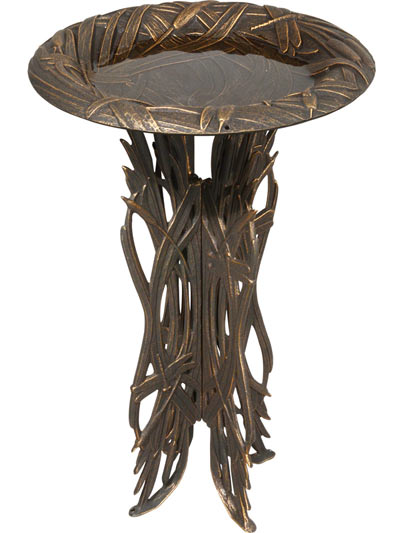 Whitehall Dragonfly Pedestal Bird Bath