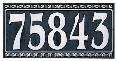 Whitehall Dresden Rectangle Square Address Plaques