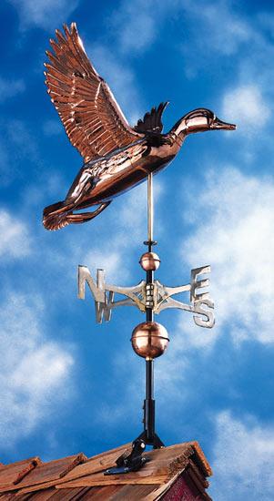 Whitehall Copper Duck Classic Weathervane