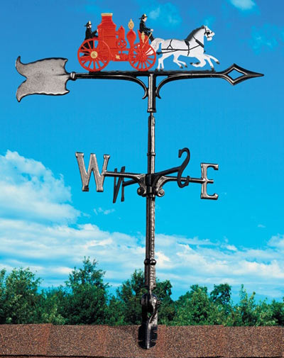 Whitehall 30 Fire Wagon Color Weathervane
