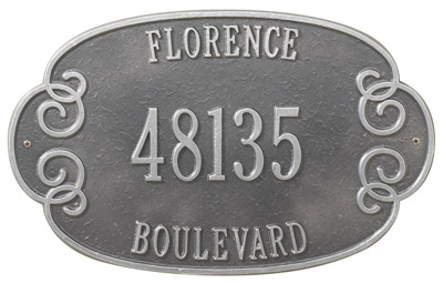 Whitehall Florence Address Plaque