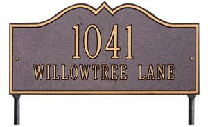 Whitehall Hillsboro Address Plaque Two Lines