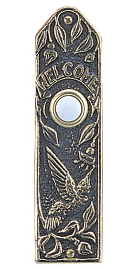 Whitehall Hummingbird Narrow Brass Door Bell
