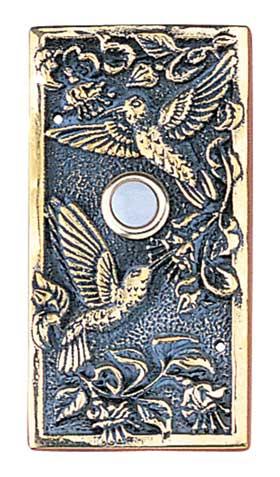 Whitehall Hummingbird Wide Brass Door Bell