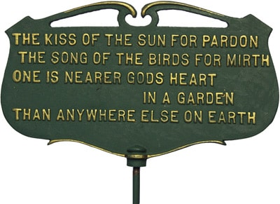 Whitehall Kiss Of Sun Poem Sign